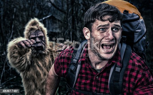 Bigfoot chasing a camper thru the woods