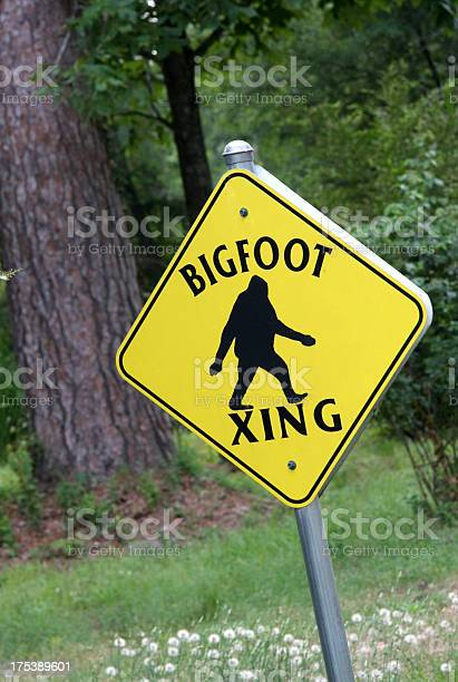 Bigfoot crossing sign picture id175389601?b=1&k=6&m=175389601&s=612x612&h=k9w3ttr8an3hauoy4slimnuoafwm7pw0fvufou8ulcm=
