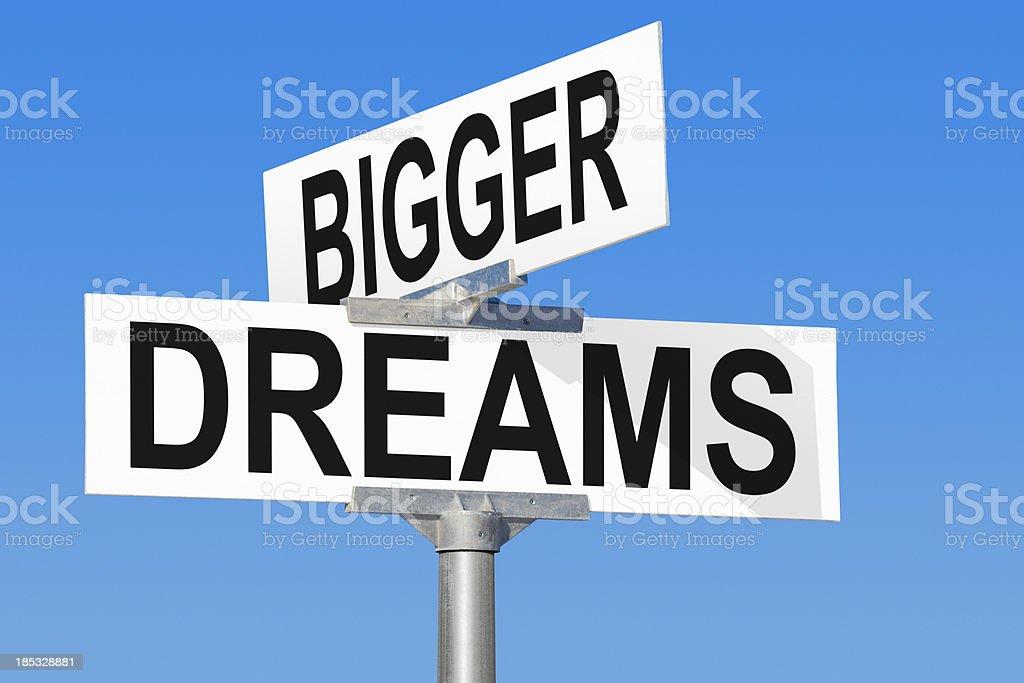 Bigger Dreams Street Sign royalty-free stock photo