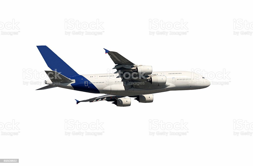 Biggest airliner of the world, isolated on white royalty-free stock photo