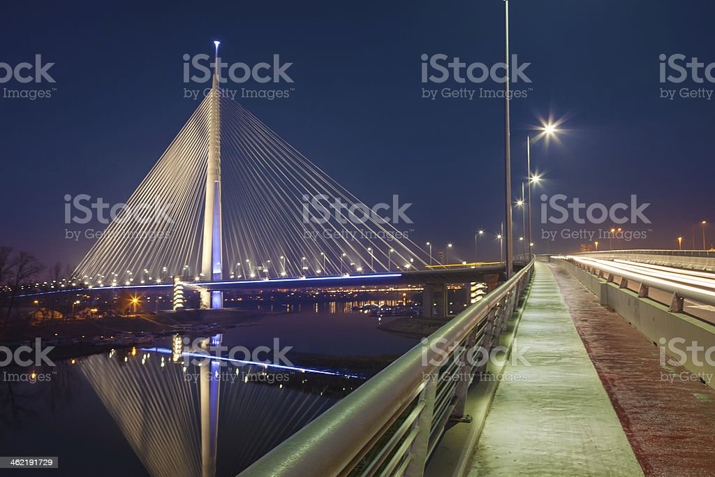 Biggest bridge with one pylon stock photo