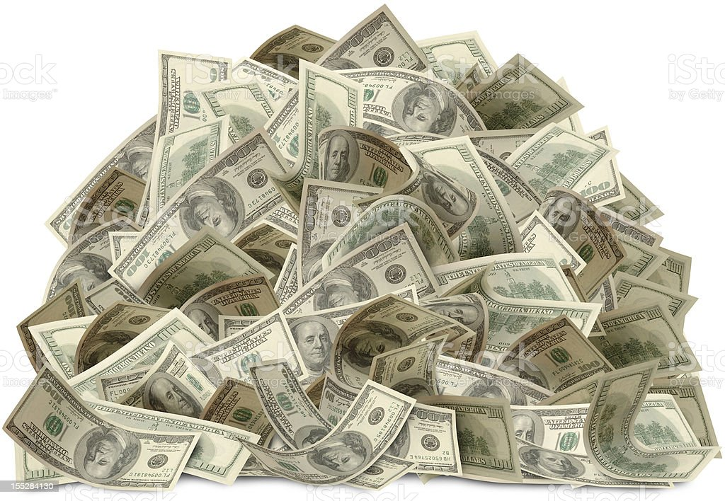 Biggest Bucks with path royalty-free stock photo