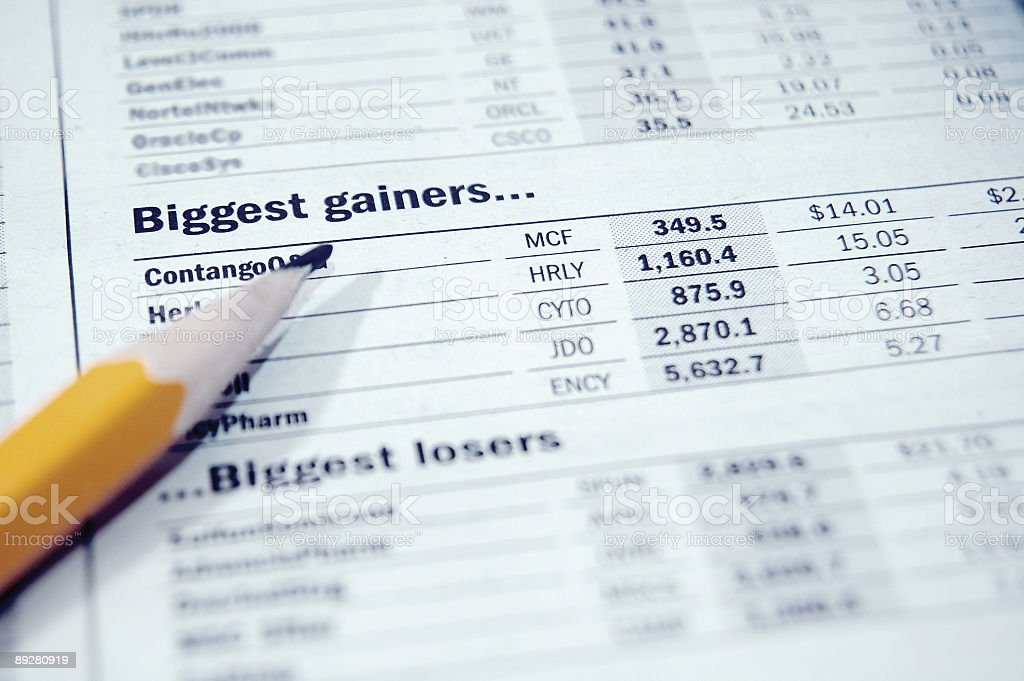 Biggest gainers! royalty-free stock photo