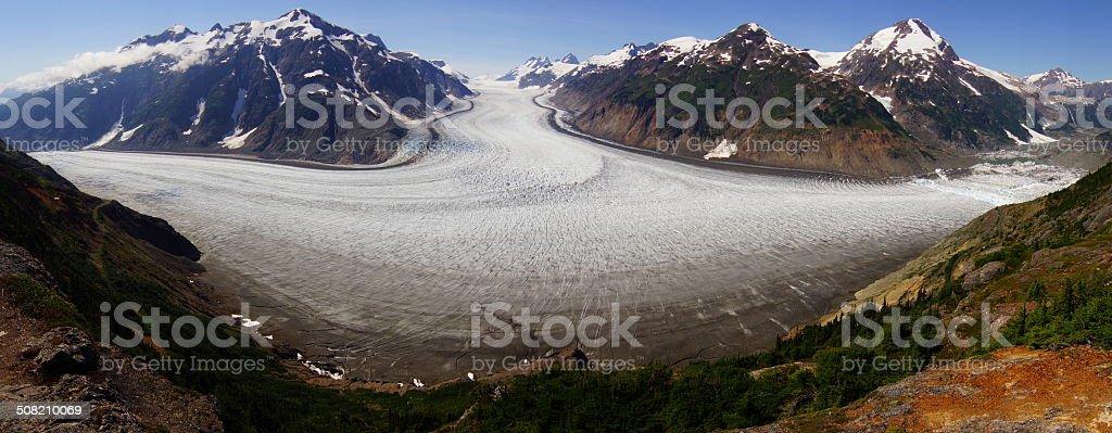 Biggest glacier of Canada in Stewart stock photo