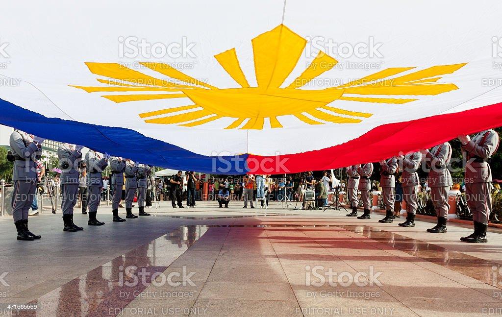 Biggest Philippine Flag stock photo