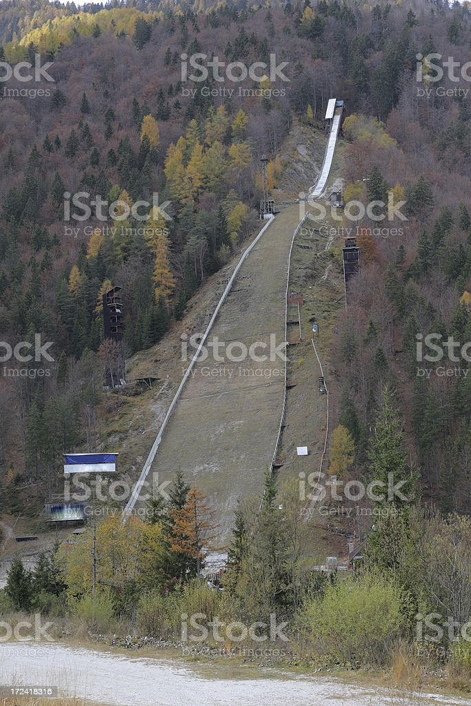 Biggest ski jumping hill royalty-free stock photo