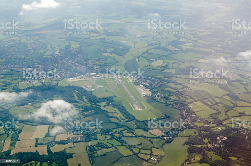 Biggin Hill Airport, aerial view stock photo