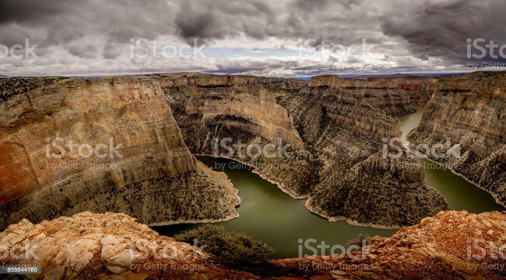 Bighorn Canyon Overlook stock photo