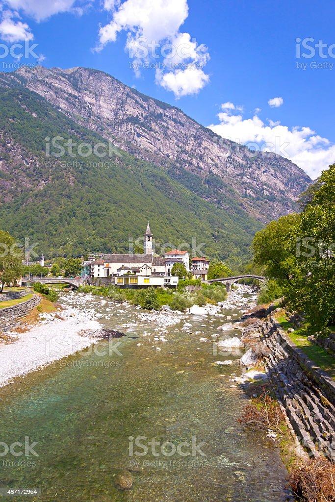 Bignasco, Ticino, Switzerland. stock photo