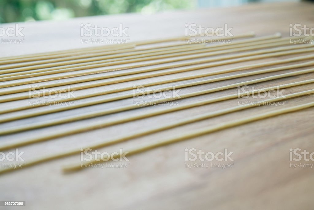 Bigoli pasta, pasta al torchio - foto stock