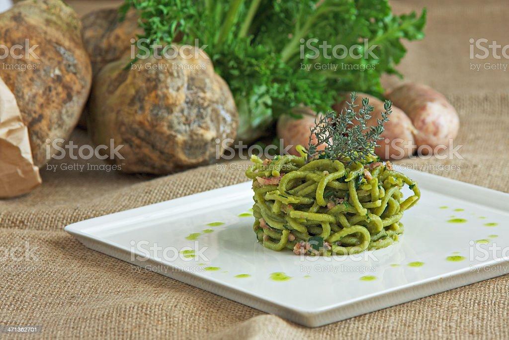 Bigoli con broccoli