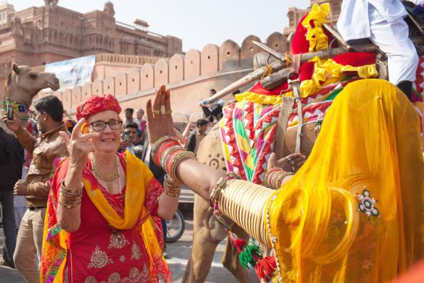 Bikaner Camel Festival in Rajasthan, India stock photo