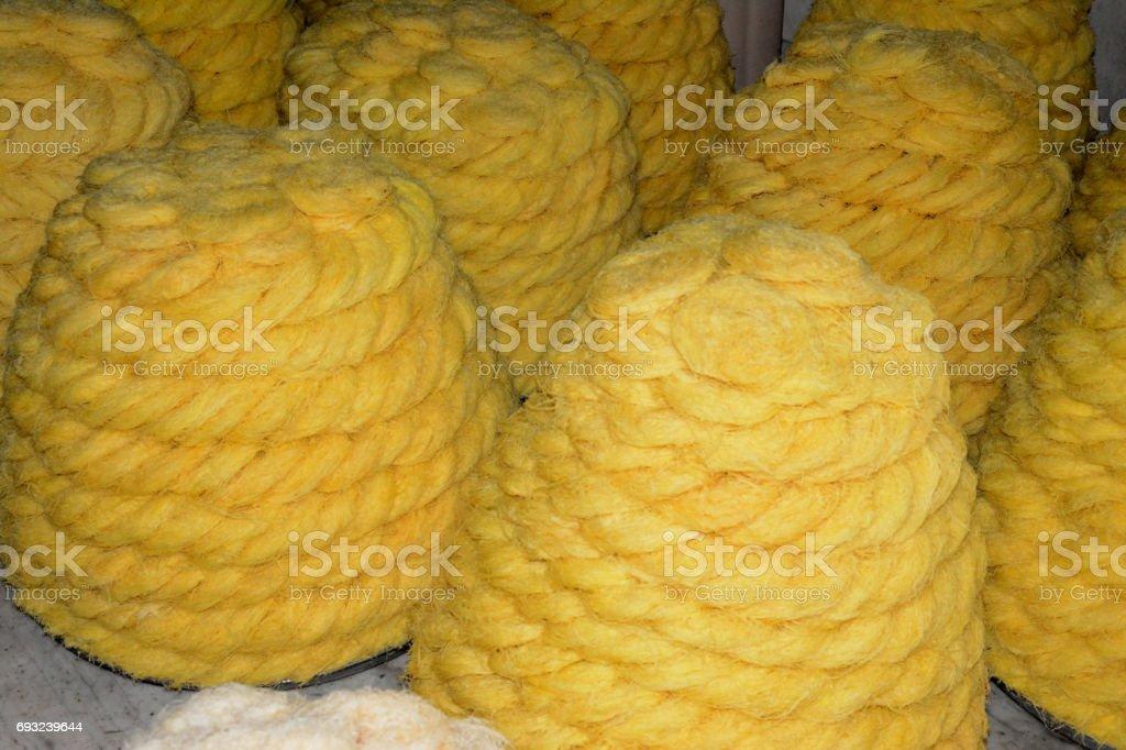 Bikaner s Sweet Kesar Fini dish stock photo
