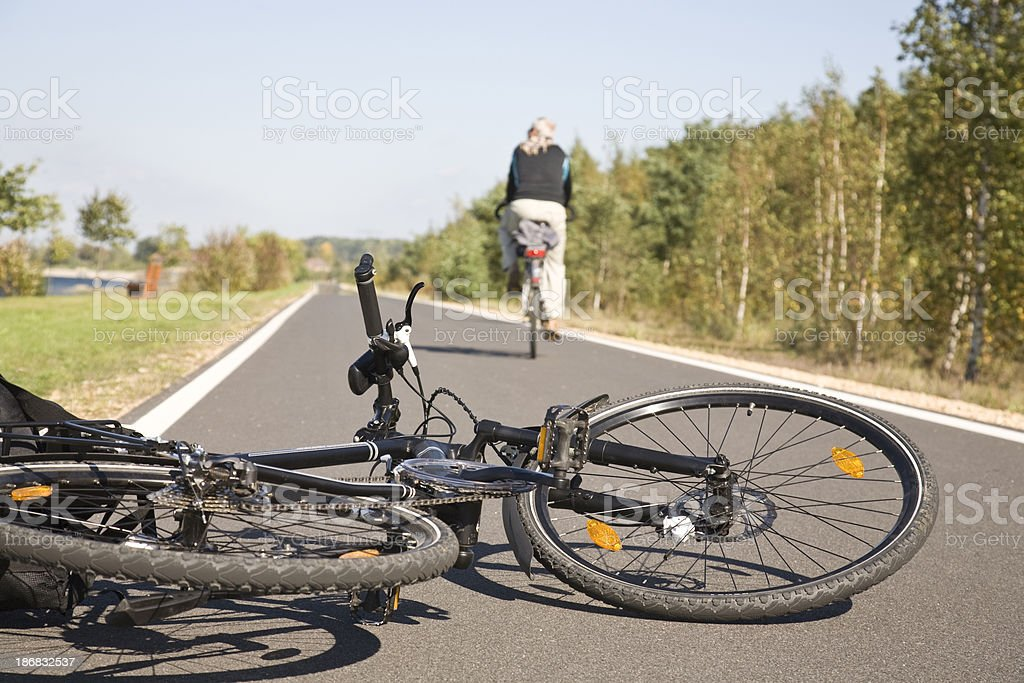 Bike accident stock photo