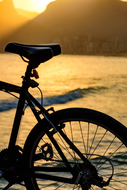 Bike and the beach stock photo