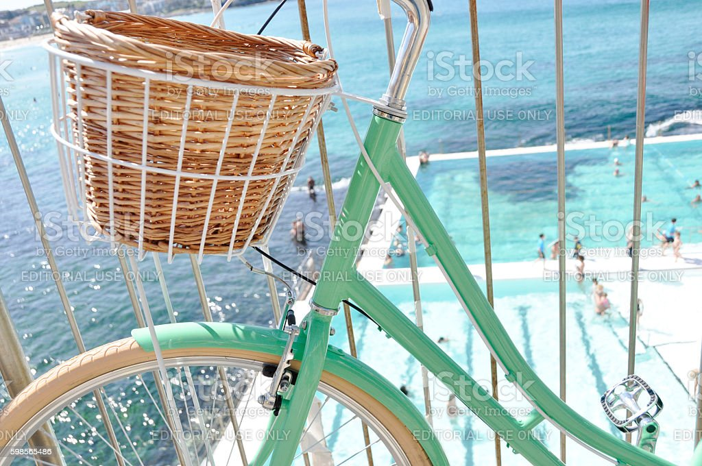 Bike at Bondi stock photo