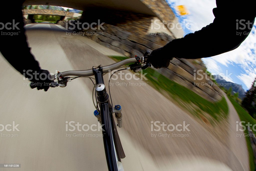 Bike Commuting royalty-free stock photo