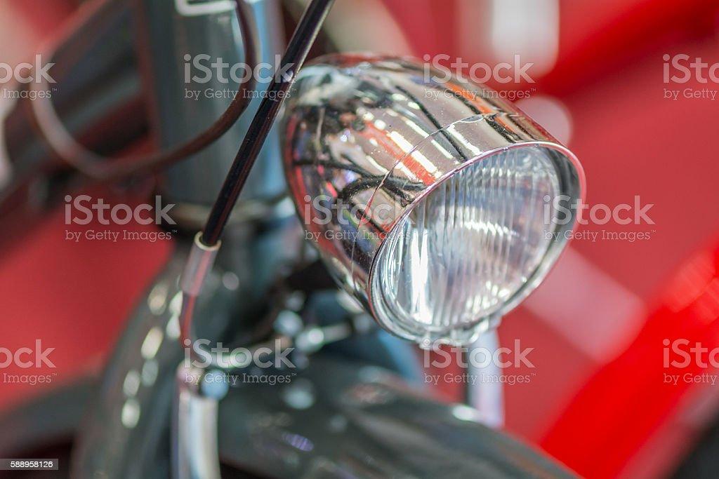 Bike detail on red background. Modern good looking bicycle with foto de stock libre de derechos
