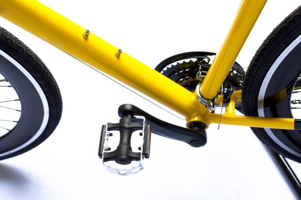 detalle de bicicleta - bastidor de la bicicleta fotografías e imágenes de stock