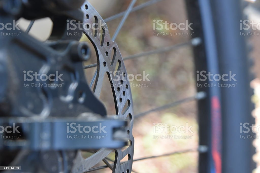 Bike disc brake stock photo