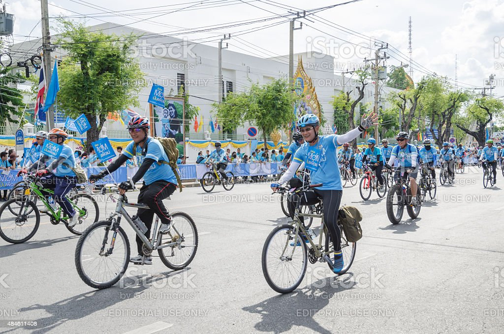 Bike for mom 2015 event from Thailand stock photo