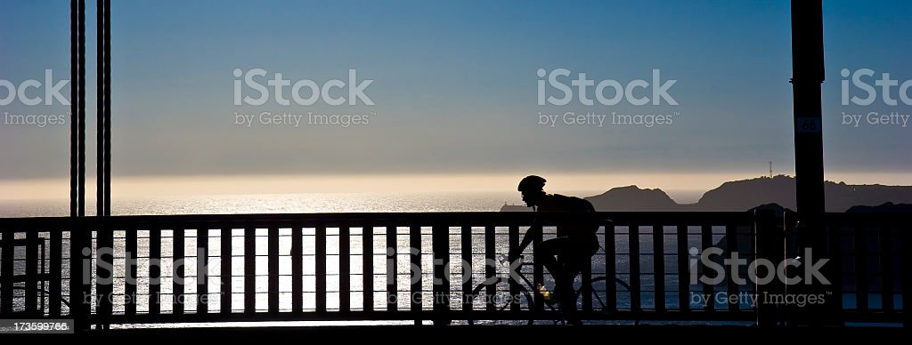 Bike Golden Gate Bridge stock photo