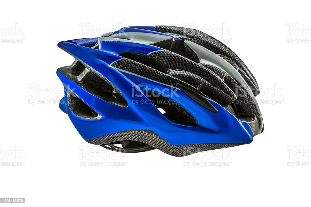 Bike Helmet isolated on white background with path. stock photo