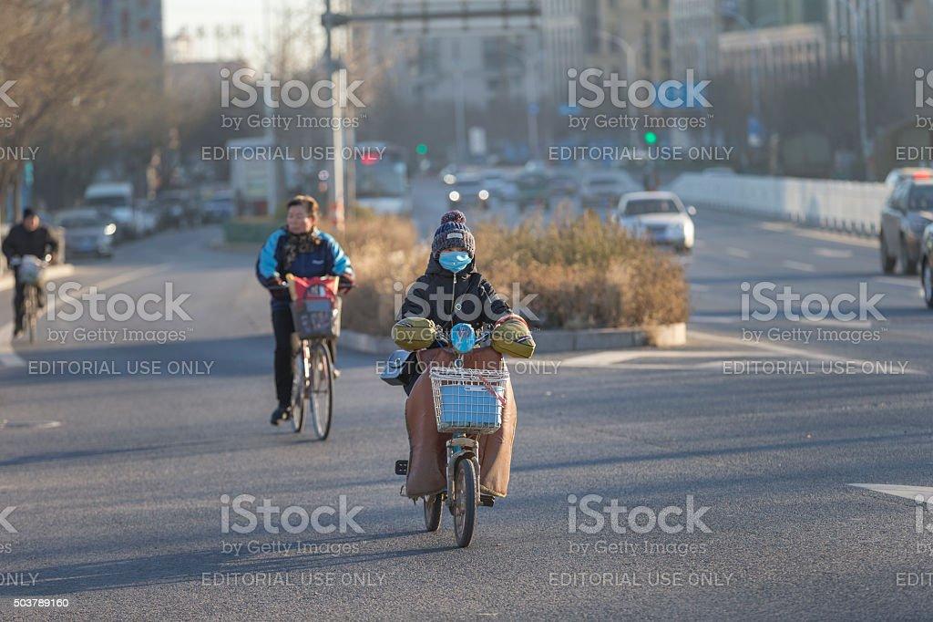 Bike in Beijing stock photo