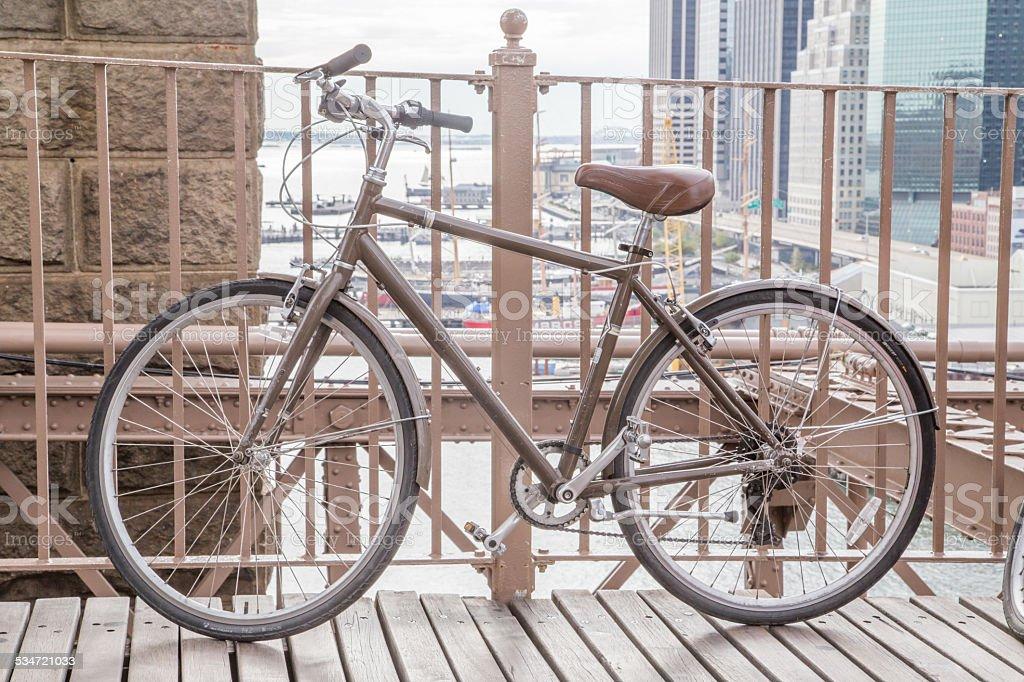 Bicicleta em Nova York - foto de acervo