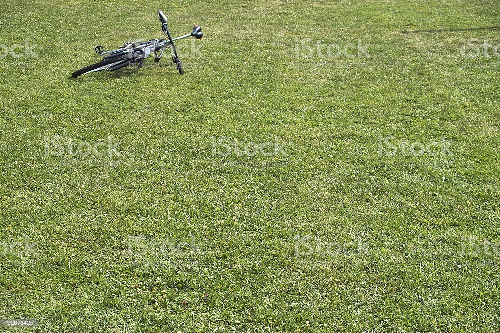 Bike in the grass royalty-free stock photo