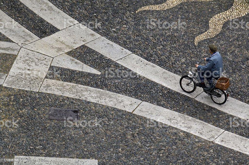 Bike in Vigevano stock photo