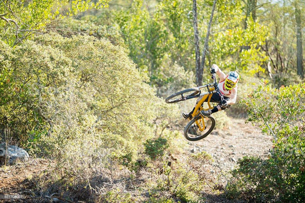 Bike jump stock photo