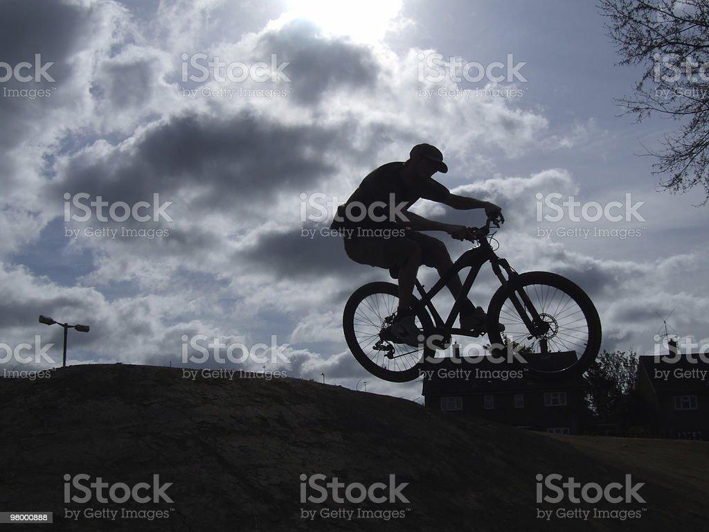 Bike Jump royalty-free stock photo