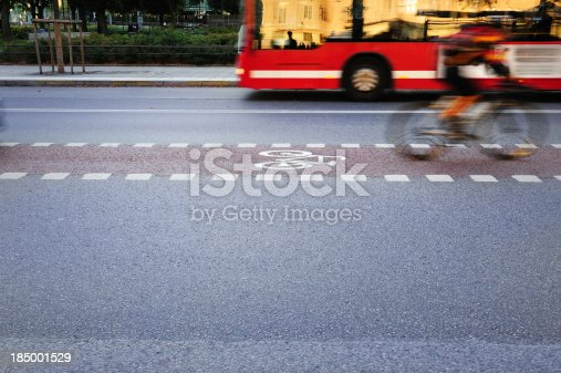 667005568istockphoto Bike lane and traffic 185001529