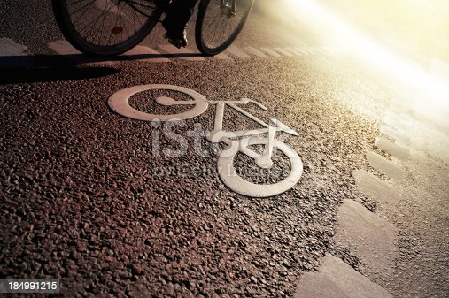 667005568istockphoto Bike lane in the evening 184991215