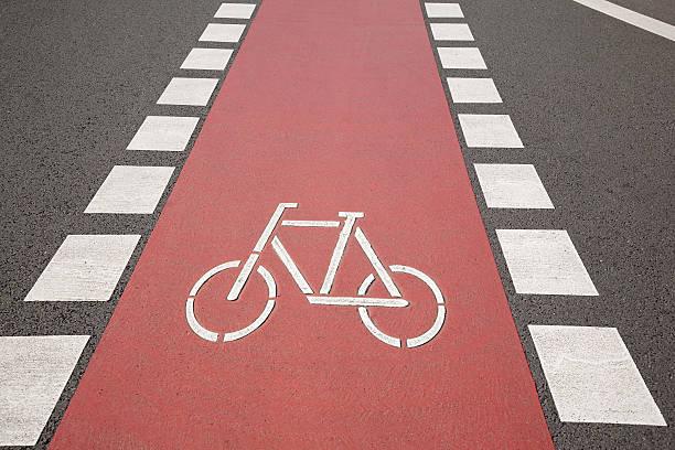 rad lane symbol, bonn - radwege deutschland stock-fotos und bilder