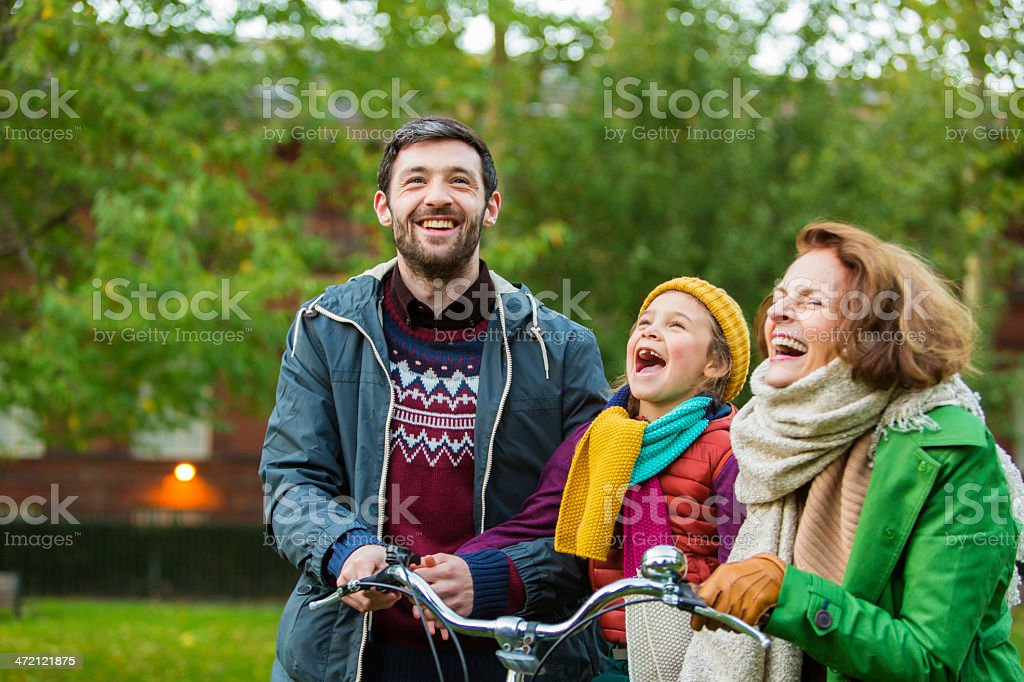 Bike Laughing stock photo