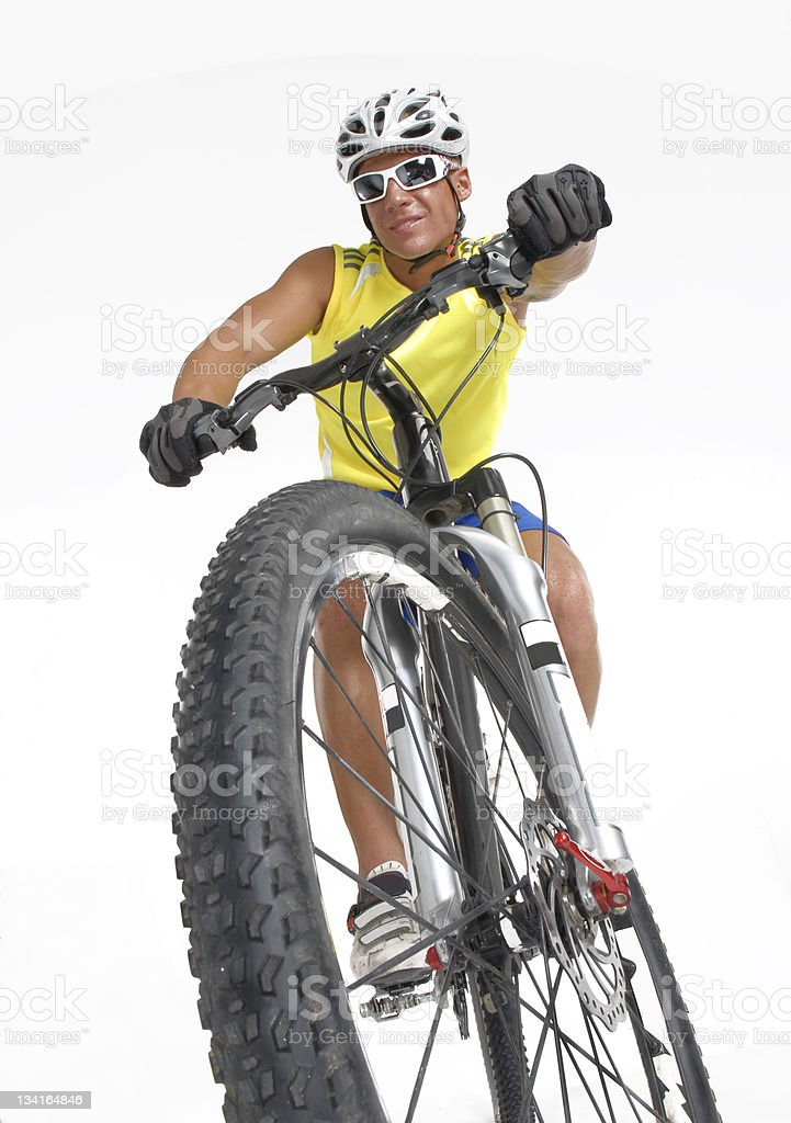 Bike man. royalty-free stock photo