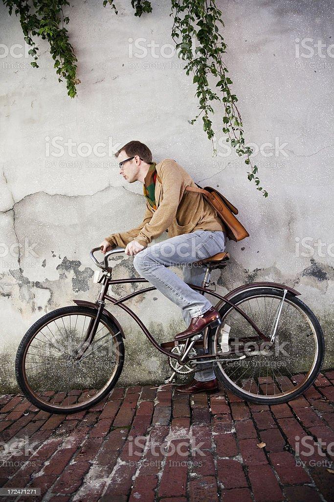 Bike messenger stock photo