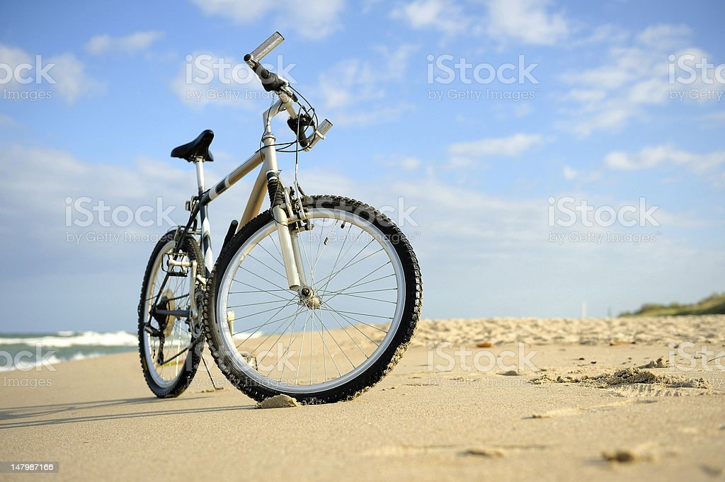 Bike on the Beach stock photo