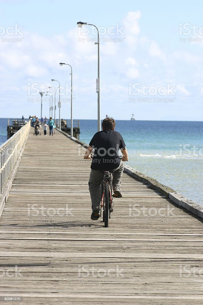 bike on the pier royalty-free stock photo