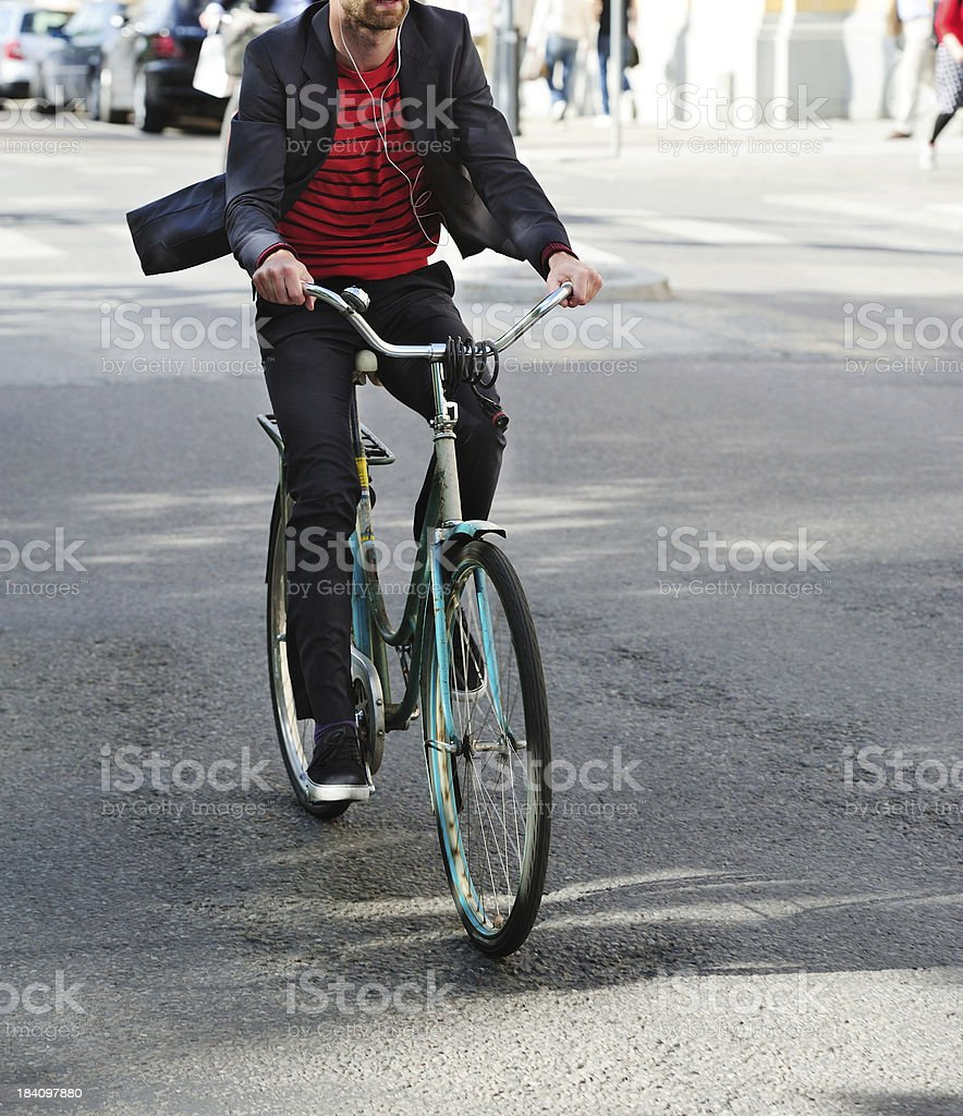 Bike on the streets of Stockholm royalty-free stock photo