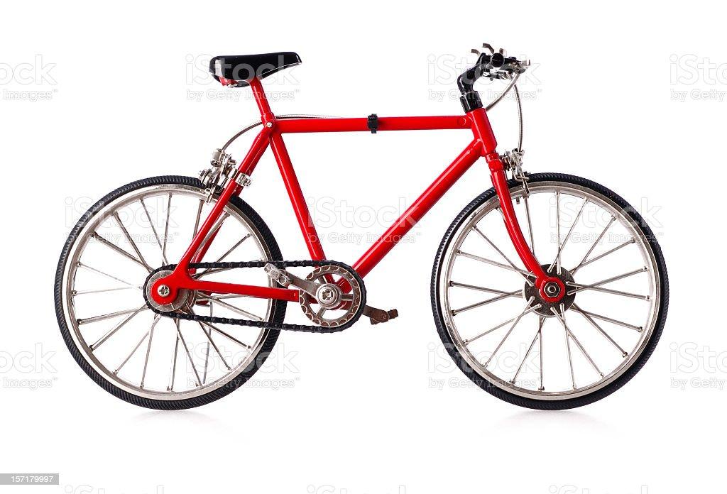 bike on white royalty-free stock photo