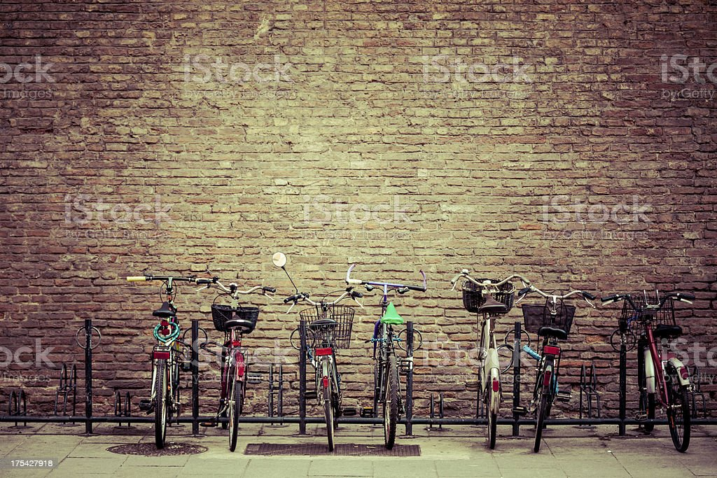 Bike Parking in Bologna, Italy stock photo
