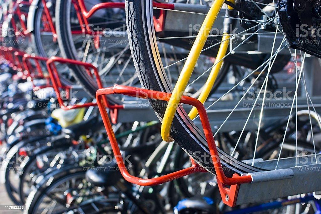 Bike parking stock photo