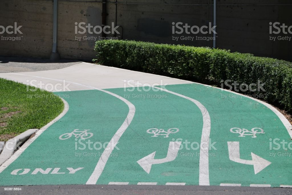 Bike path in Sydney, New South Wales Australia stock photo