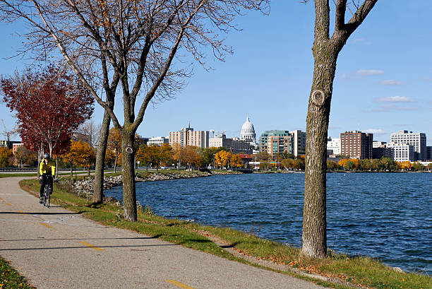 Bike Path  madison wisconsin stock pictures, royalty-free photos & images