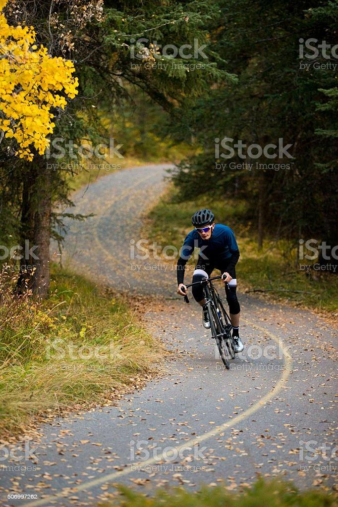 Bike Path Rider stock photo
