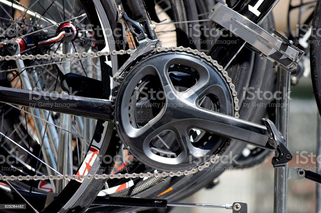 Bike pedal stock photo