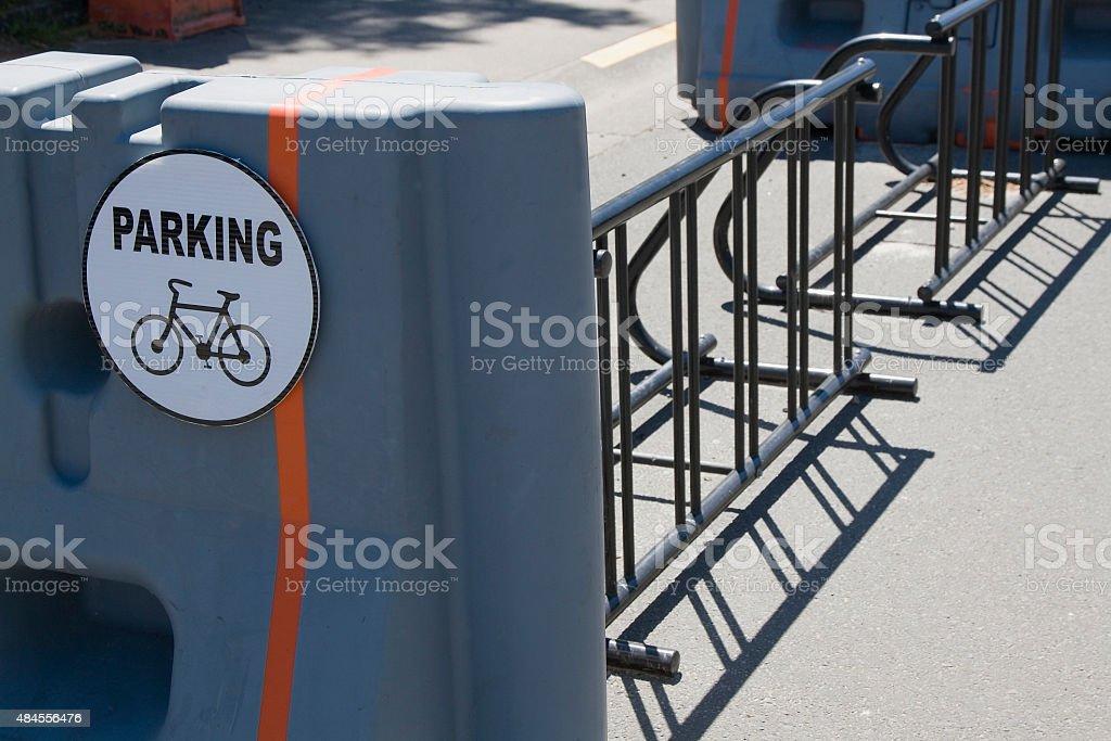 Bike Rack stock photo